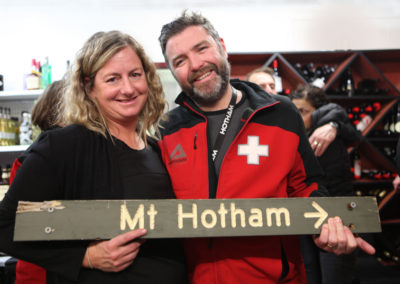 Old wooden Hotham Sign